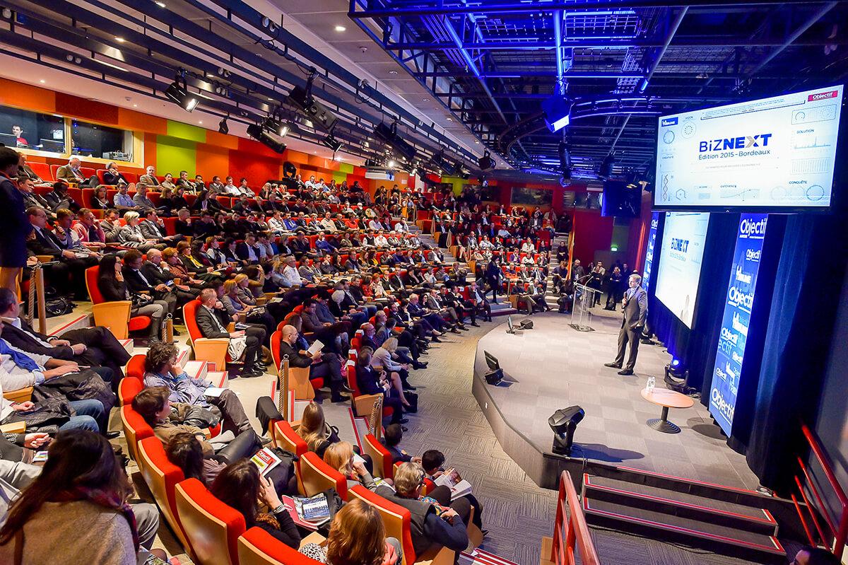 1st edition of the Biznext La Tribune-Objectif Aquitaine Event – Centre des congrès de la Cité Mondiale – Bordeaux, 12/17/2015